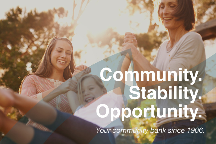Community Stability Opportunity Your Community bank since 1906