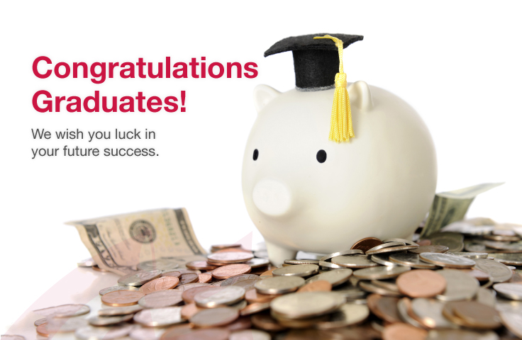 The First National Bank wants to wish you luck in your future success.  Congratulations graduates!